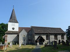 St Nicolas' Church, Church Road, Great Bookham (NHLE Code 1028641).JPG