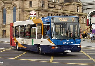 Wright Crusader - Stagecoach Merseyside Wright Crusader bodied Dennis Dart SLF in Liverpool in September 2007