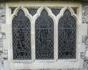 Cox & Barnard - Image: Stained Glass Window by Cox & Barnard, St Leonard's Church, Seaford