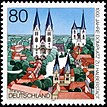 Stamp Germany 1996 Briefmarke Domplatz Halberstadt.jpg