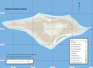 Starbuck Island - Image: Starbuck Island Map