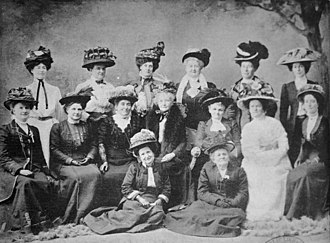 The suffragette movement in Australia - Delegates to the Australian Women's Conference in Brisbane, 1909 StateLibQld 1 126927 Delegates to the Australian Women's Conference in Brisbane, 1909 , (suffragette movement in Queensland).jpg
