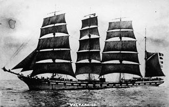 Ateliers et Chantiers de France - Valparaiso, a four-masted steel barque built in 1902 by Chantiers de France