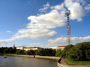 National State Television and Radio Company of the Republic of Belarus - Broadcasting tower of the BTRC at 6 Kamunistychnaya st.