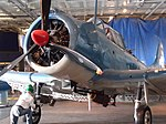 Static Display USS Lexington SBD-3 Dauntless red nose front.jpg