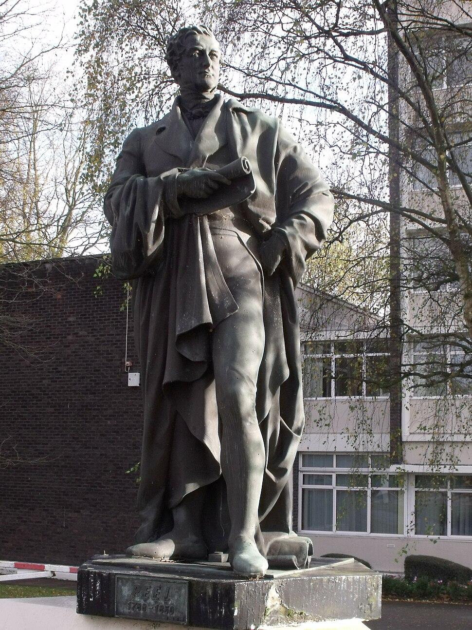 Statue of Robert Peel in Edgbaston, Birmingham