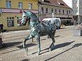 Statue of horse in Schloßplatz (Berlin-Köpenick).jpg
