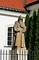 Statue outside Saint Casimir's Church, Warsaw New Town.jpg