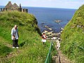 Steep path near Dunluce Castle - geograph.org.uk - 1373620.jpg