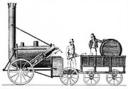 Stephenson's Rocket 1829, the winner of the Rainhill Trials