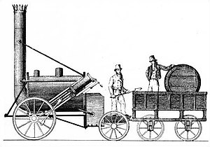 Stephenson's Rocket - A contemporary drawing of Rocket