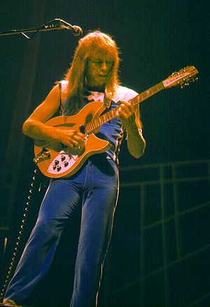 Steve Howe (musician) - Howe in concert with Yes in 1977