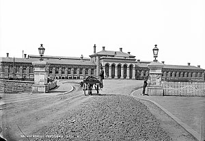 Portadown - The old railway station in Edenderry (c. 1879)