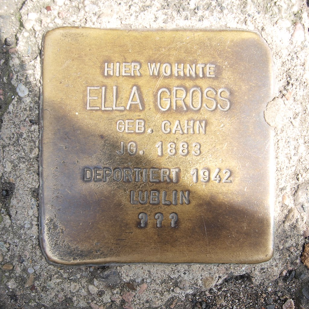 Stolperstein Bingen Gaustraße 21 Ella Gross.jpg