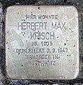 Stolperstein Bruchsaler Str 12 (Wilmd) Herbert Max Krisch.jpg
