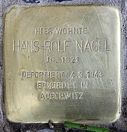 Photo of Hans-Rolf Nagel brass plaque
