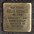 Stolperstein Gipsstr 23a (Mitte) Felix Rowald.jpg