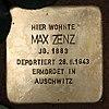Stolperstein Schirnerstr 28a (Altgl) Max Zenz.jpg