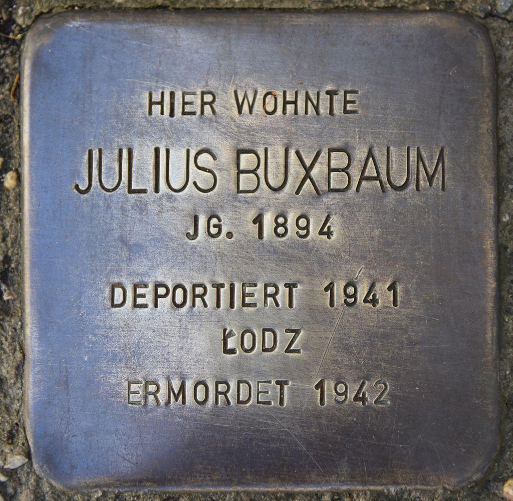 Stolperstein für Julius Buxbaum.JPG