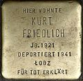 Stumbling block for Kurt Friedlich (Weyerstraße 122)