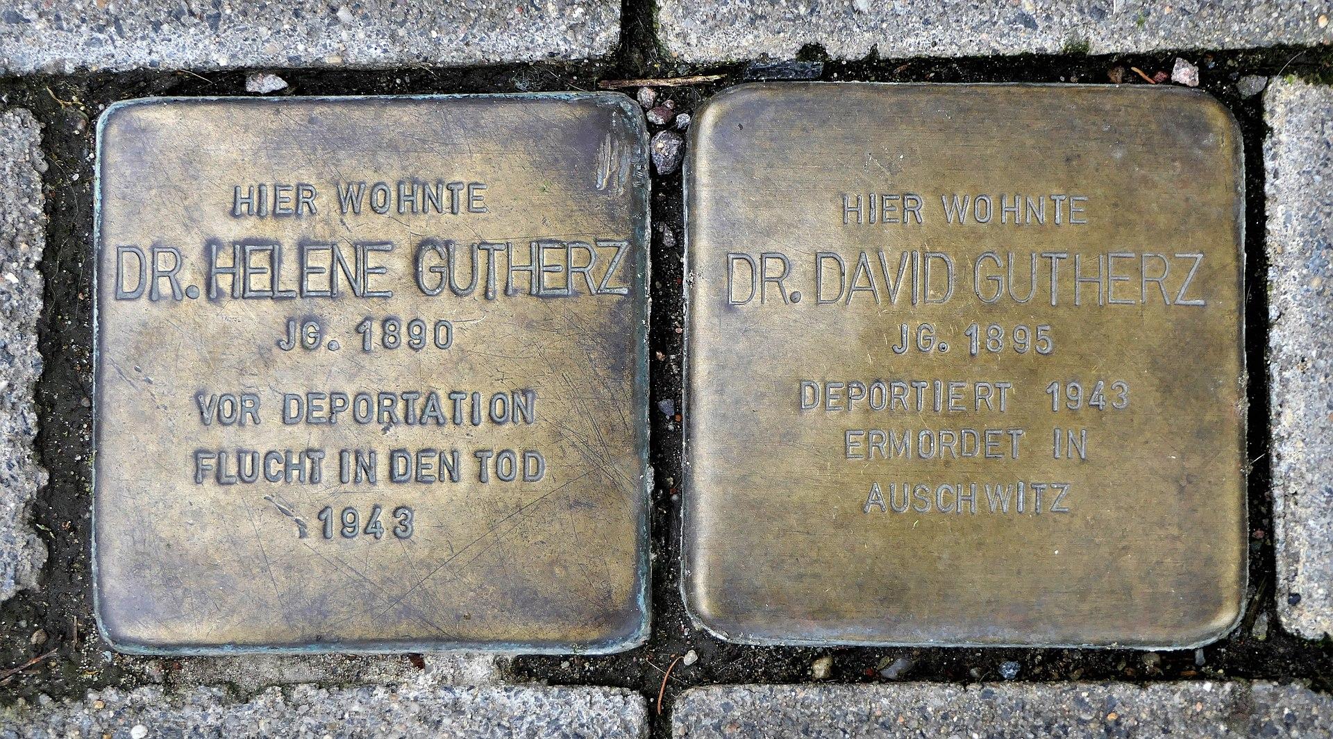 Stolpersteine für Familie Gutherz, Bahnhofstrasse 51, Döbeln.JPG