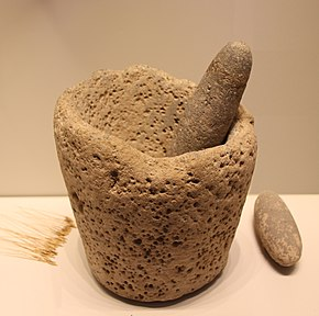 Stone Age Stone Mortar & Pestle, Kebaran culture, 22000-18000 BP.jpg