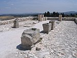 Stone blocks at Megiddo, May 2008.jpg