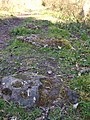 Stone sleepers on Ticknall Tramway - geograph.org.uk - 467951.jpg