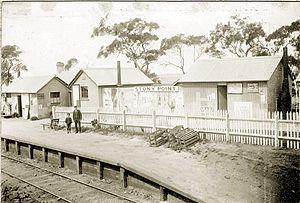 Stony Point railway station - Image: Stony point 1892