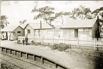 Stony Point railway line - Stony Point station in 1892.