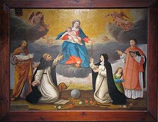 Vierge du Rosaire avec Saint-Dominique et Sainte-Catherine de Sienne