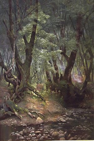Strawberry Creek - Strawberry Creek, Berkeley, by Edwin Deakin
