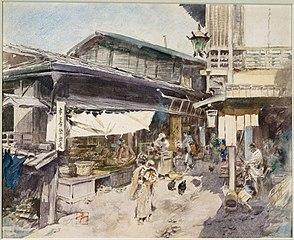 Street Scene in Ikao, Japan