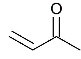 Methyl vinyl ketone - Image: Structure of methyl vinyl ketone