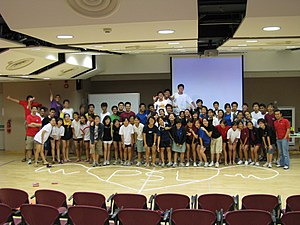 student leaders at camp