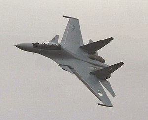 Algerian Air Force - A Su-30MKA in flight