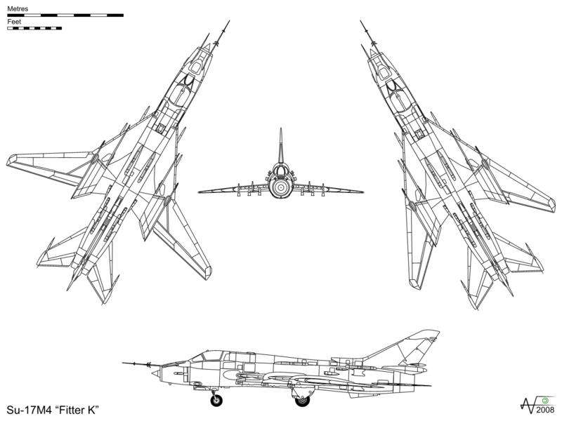 المقاتلات القاذفه Su-17/20/22 السوفييتيه 800px-Sukhoi_Su-17M4