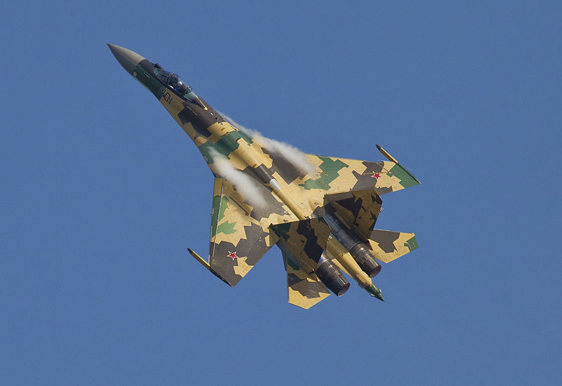 Su-35 Super Flanker of the Russian Air Force (WIKIMEDIA)