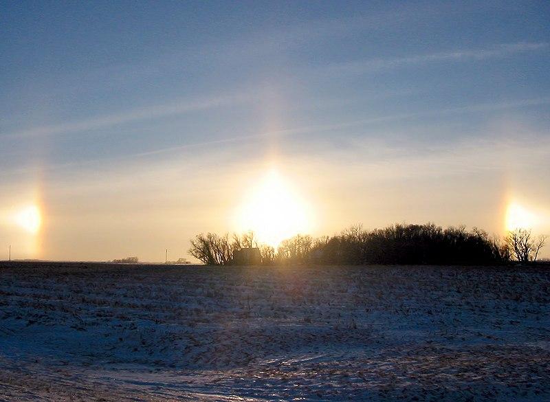 3 Matahari pernah terlihat di bumi ( sundog )