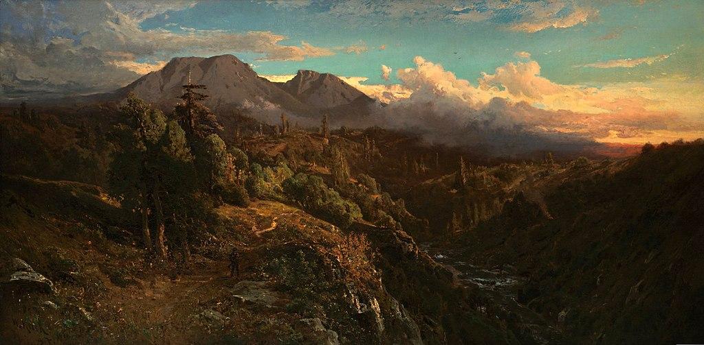 File Sunset Glow On Mt Tamalpais By William Keith 1896