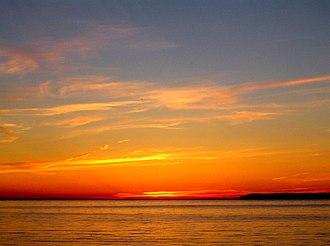 North Manitou Island - North Manitou Island as seen from Glen Arbor at dusk