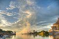 Sunset over Kuching river (3678636889).jpg