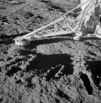 Surveyor 3 - Surveyor 3 scoops, photographed by the Apollo 12 astronauts