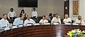 Sushma Swaraj holding a meeting with the Members of Parliament from the states of Telengana and Andhra Pradesh on the issues related with the Pravasi Bhartiya of the two states.jpg
