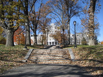 Swarthmore College - Parrish Hall from Magill Walk