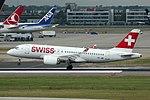 Swiss International Air Lines Bombardier CS100 (HB-JBB) landing at London Heathrow Airport.jpg
