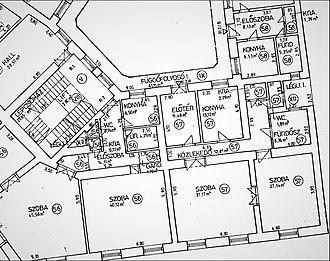 Condominium - Floor plan of a condo - Andrássy avenue, Budapest