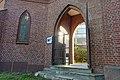 Tønsberg domkirke (Tønsberg Cathedral, Lutheran church built 1858) Norway 2020-08-25 WC i nordvestre hjørne (morning light toilet sign) 03108.jpg