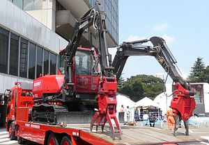 Hitachi Construction Machinery - Double front work machine ASTACO (Tokyo Fire Department)
