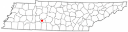 Location of Hohenwald, Tennessee
